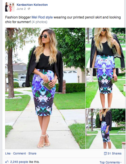 Kardashian Kollection, Pencil Skirt, Floral, Print, Featured, Press, Blogger