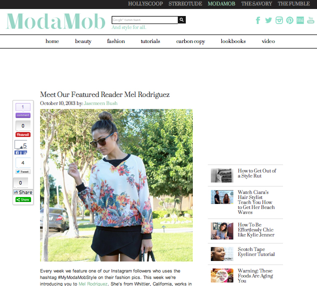 Moda Mob, Style, Featured, Press, Blogger