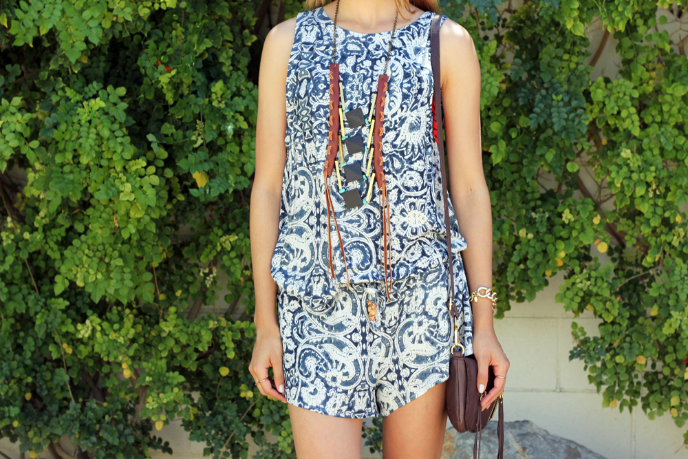 Chaser Brand, Two Piece, Casual, Love and Leather, Necklace, Coachella, Spring, Outfit, Blogger Style, Festival