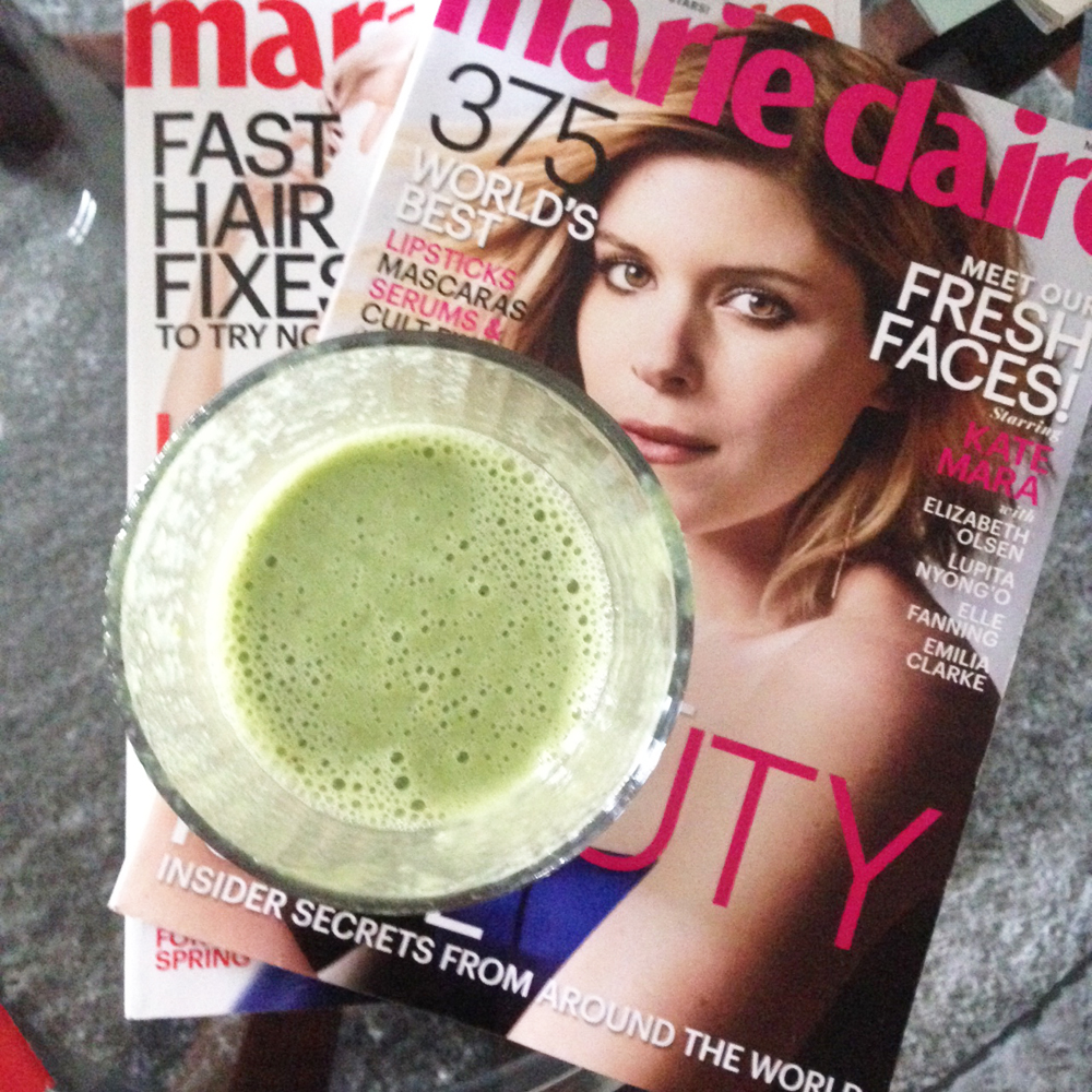 smoothie, Marie Claire Magazine, Recent,