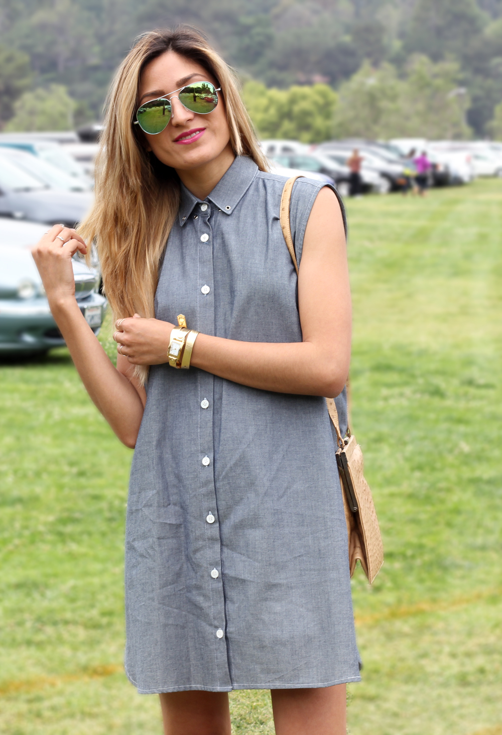 In My Air, Sleeveles, Chambray, Sandals, Spring, Outfit, ZeroUV, Trending