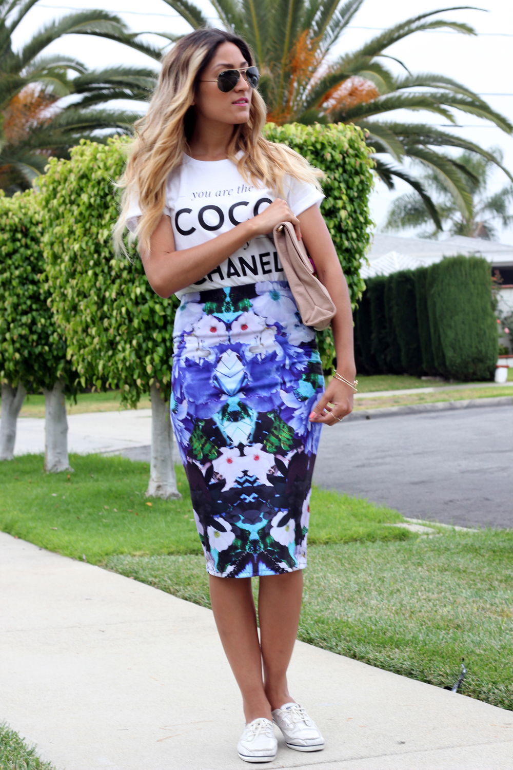 Kardashian Kollection, Style Lately, Keds, Floral, Tee, OOTD, Spring, Summer