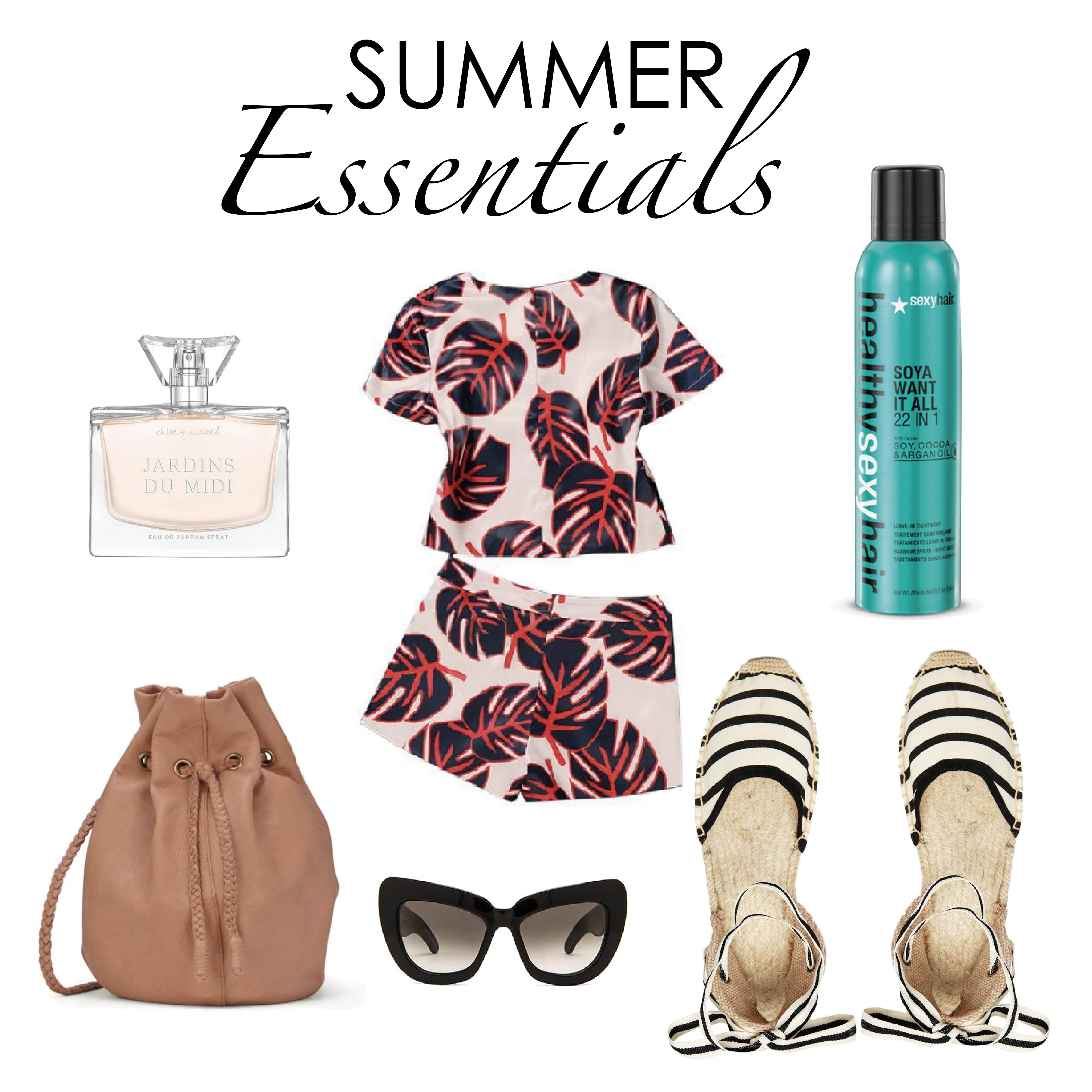 Summer Essentials, Crop, Shorts, Beach, Hair, Beauty, Fashion, Shoes, Summer