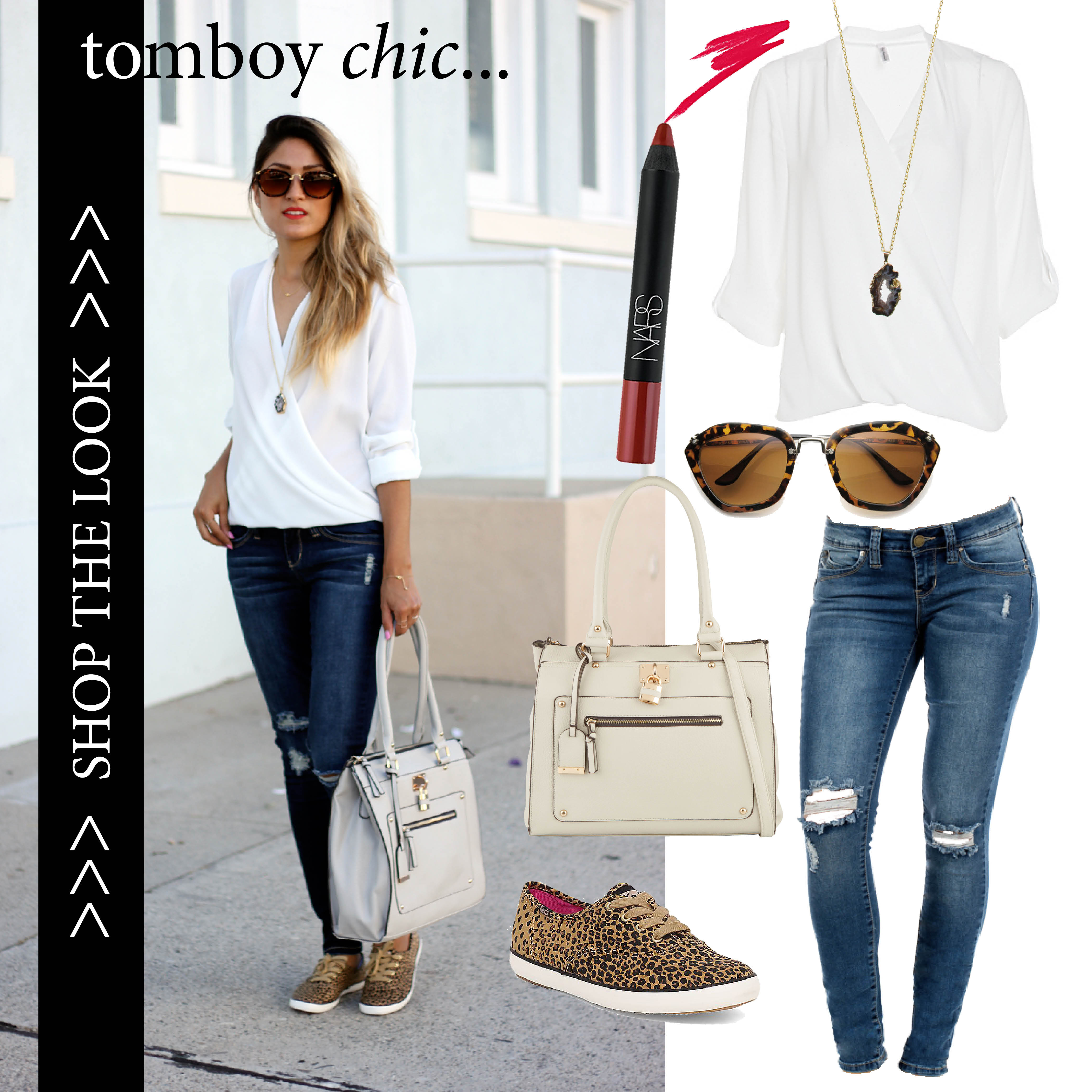 tomboy chic, weekend, ootd, casual, shop the look, shopping, melrodstyle, trending, chic, tomboy, daily look, keds, leopard