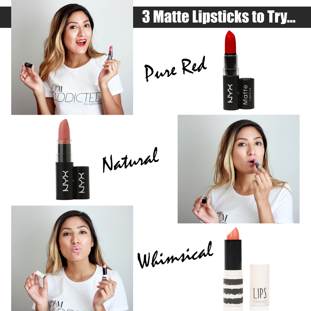 Lipsticks, Lips, Colors, Trending, Beauty, Makeup, NYX cosmetics, topshop, melrodstyle, lip colors