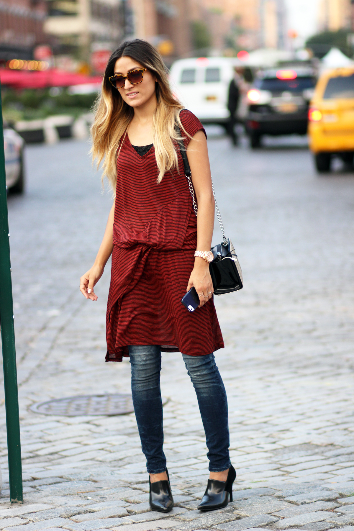 Happy Hour Collection, Dress, Jeans, A & C, Denim, Melrodstyle, Streetstyle, NYFW, New York, Fashion Week,