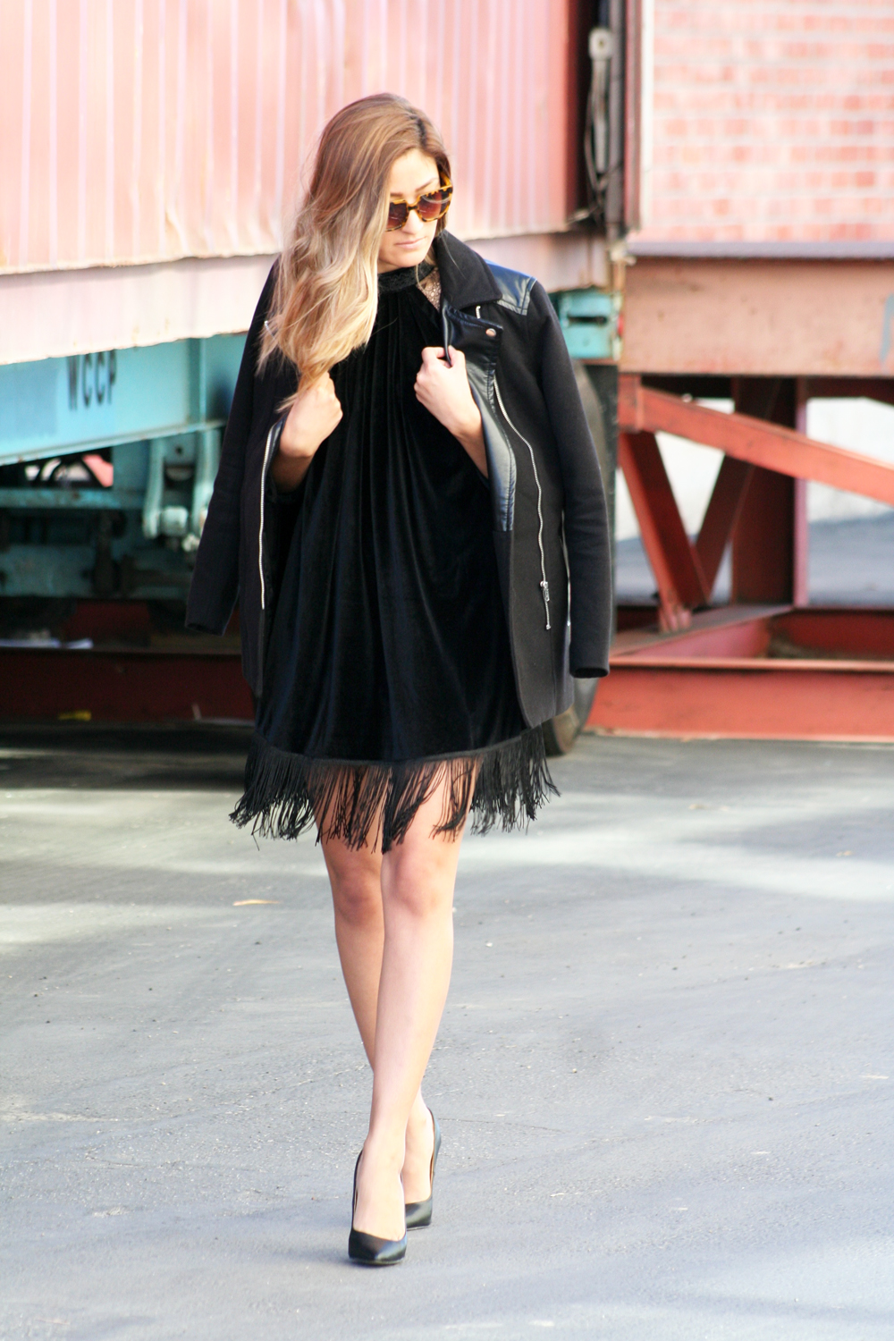 melrodstyle, streetstyle, arj photography, kerold apparel, velvet, fringe, inspiration, outfit, ootd, blogger style, new year's eve dress, holiday dress, dress, lace