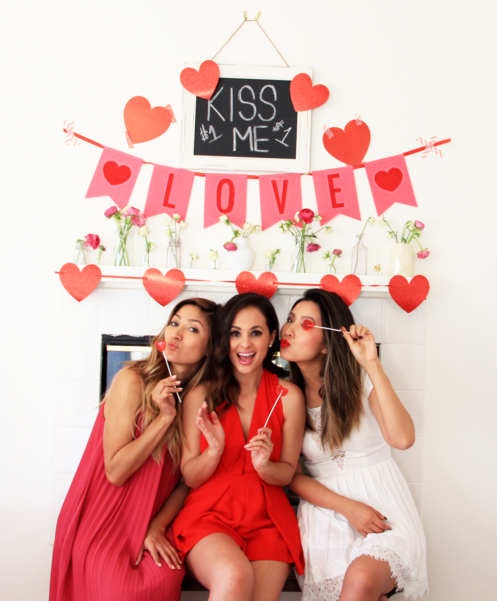 happy valentine's day, melrodstyle, red, white, pink, hearts, bloggers, v day