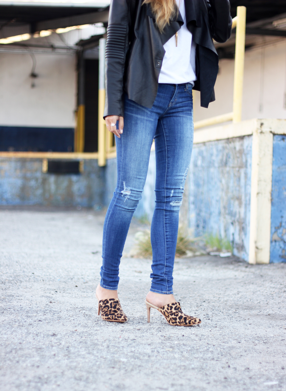 stella and jamie, leather jacket, marais usa, leopard, mules, melrodstyle, la blogger, stylelist, who what wear,  street style, ootd, mexican blogger, latina