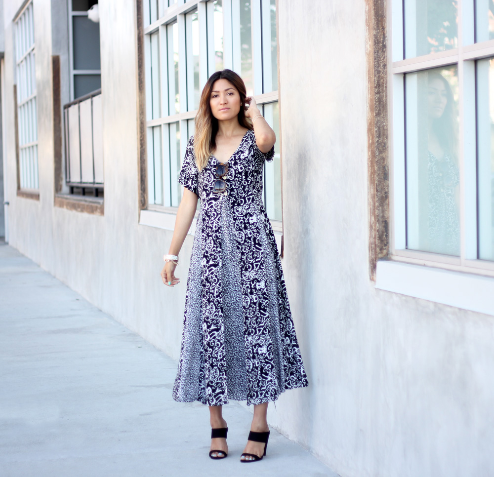 vintage find, melrodstyle, street style, stylelist, who what wear, ootd, vintage, dress, latina blogger, mexican blogger, la blogger, paper dolls heels,