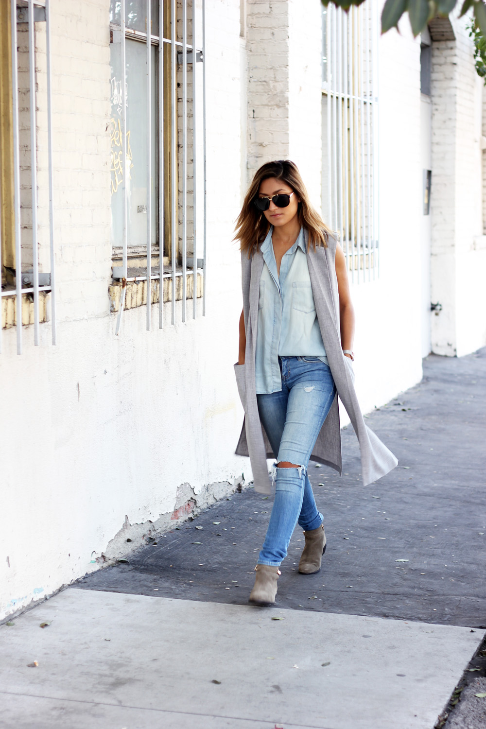 denim on denim, denim, grey, forever 21, coach, melrodstyle, stylelist, who what wear, refinery 29, latina blogger, la blogger, melrodstyle, ootd
