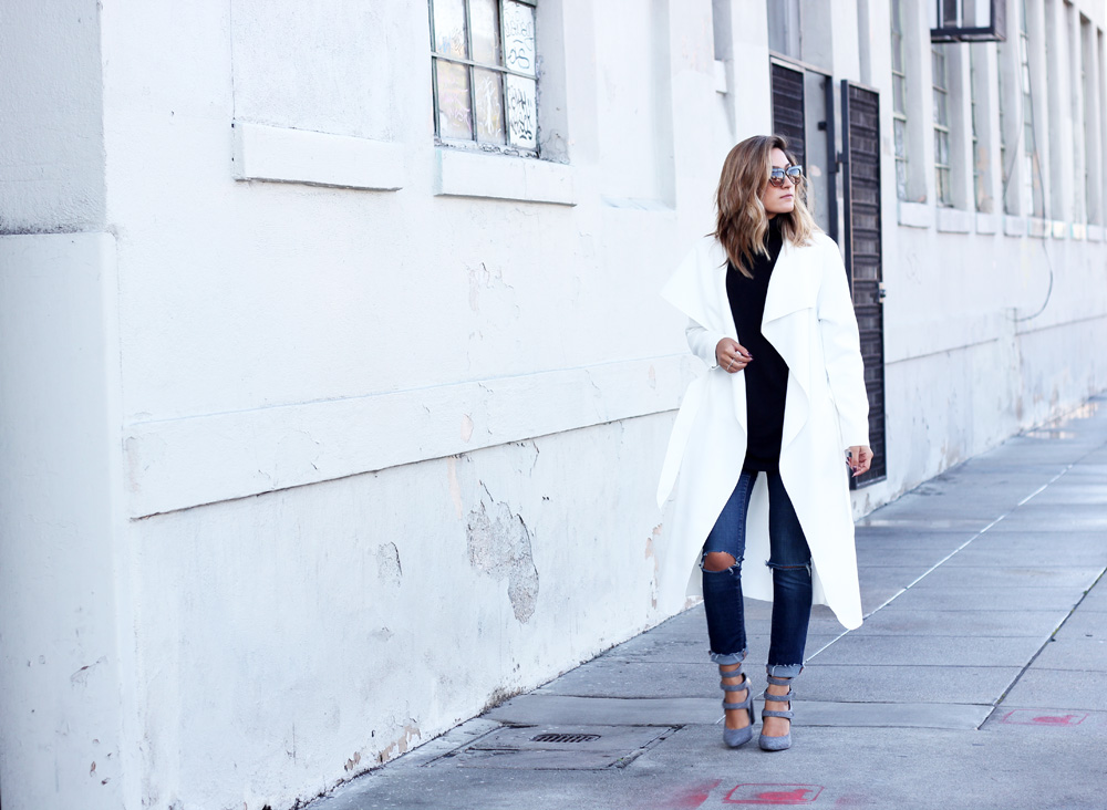 fall style, melrodstyle, ootd, stylelist, who what wear, refinery 29, blogger, la blogger, latina blogger, aldo shoes, denim, white coat, mexican blogger