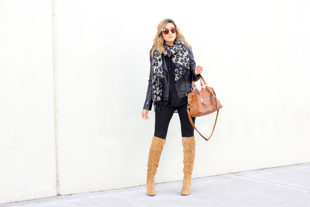 la bloggers, aldo boots, bad, melrodstyle, latina blogger, mexican blogger, streetstyle, otid, outfit, aldo bag, black on black, leopard, trending,