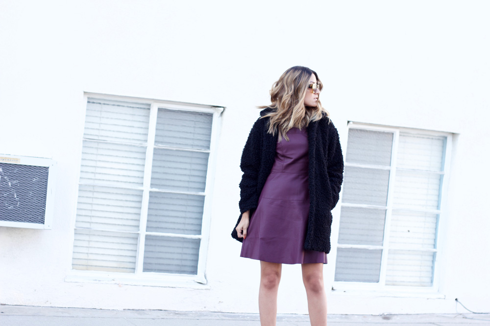 melrodstyle, taste dress, hm coat, fuzzy coat, jacket, la blogger, latina blogger, mexican blogger, street style, ootd, outfit, inspiration, refinery 29, who what wear, aldo shoes, stylelist