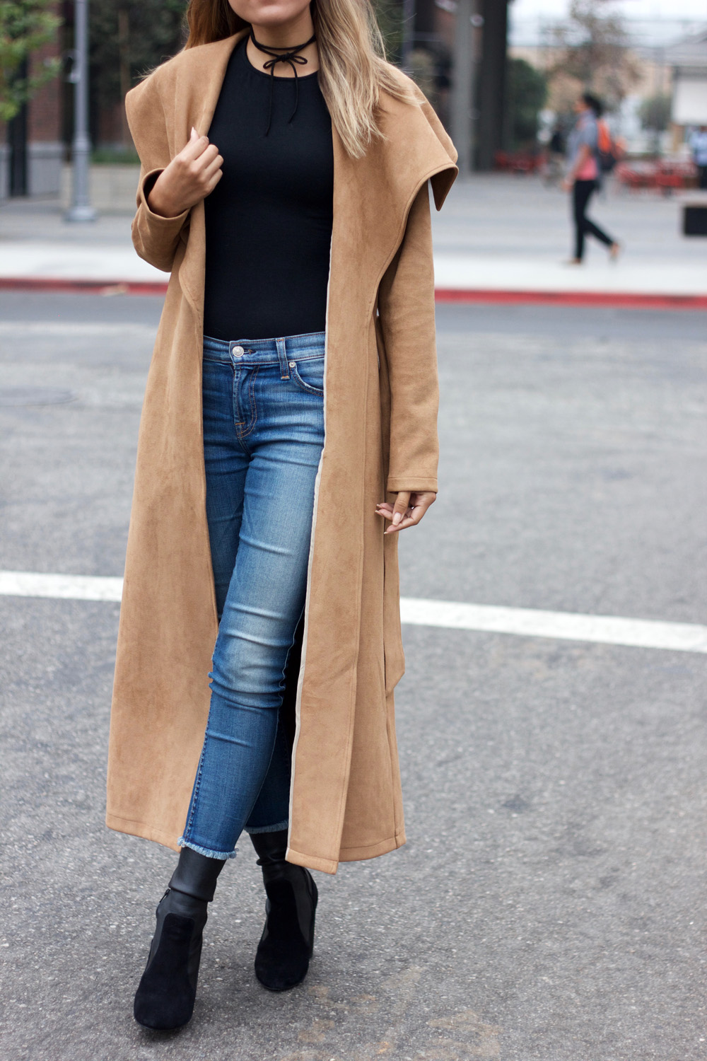 state of being, camel coat, melrodstyle, ootd, fashion, street style, arts district, aldo boots, denim, top knot, la blogger, hispanic blogger, latina blogger, mexican blogger,