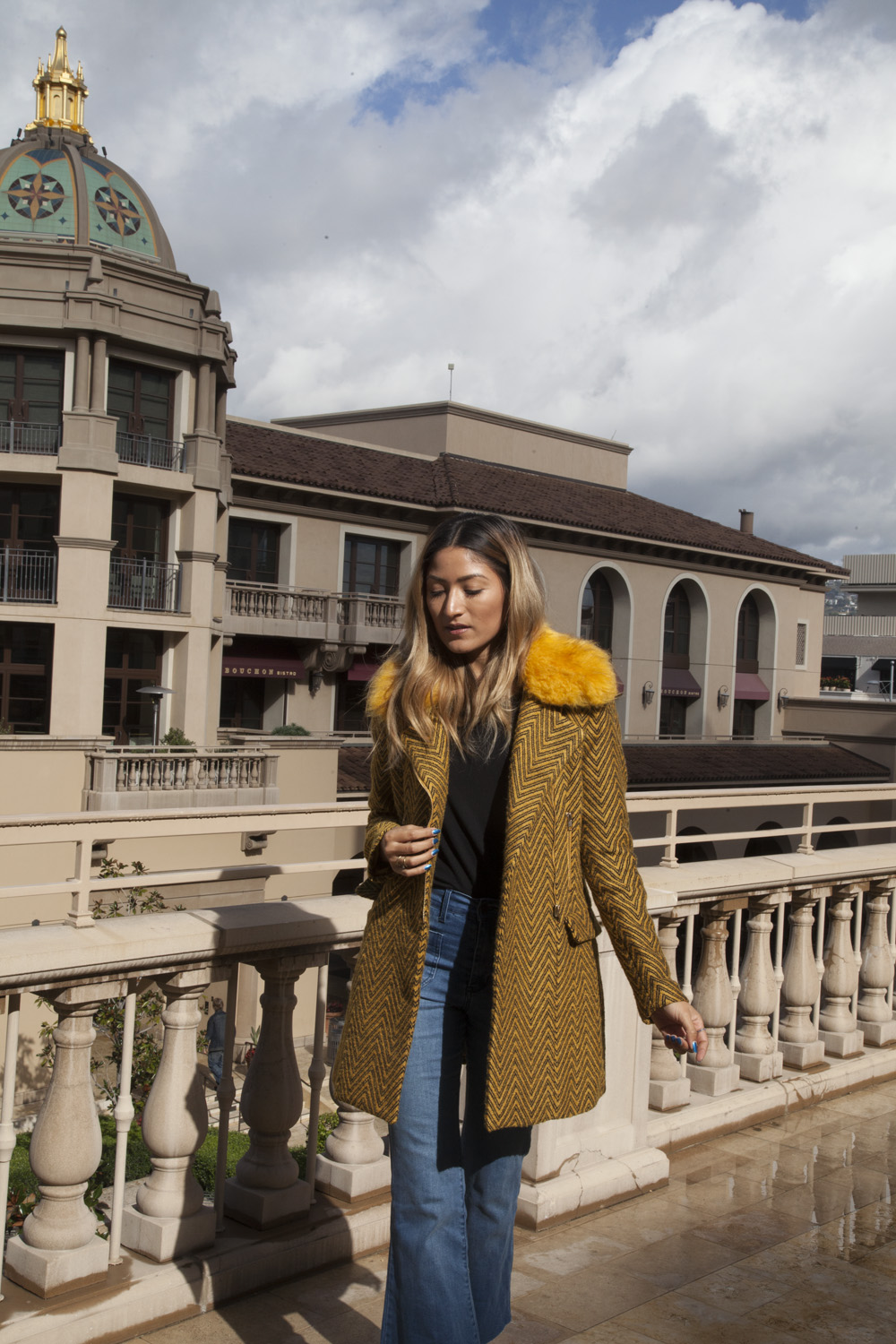 lucy paris, revolve, yellow coat, melrodstyle, blogger, street style, beverly hills, la blogger, whittier blogger, latina blogger, hispanic blogger, mexican blogger, outfit, ootd, who what wear,