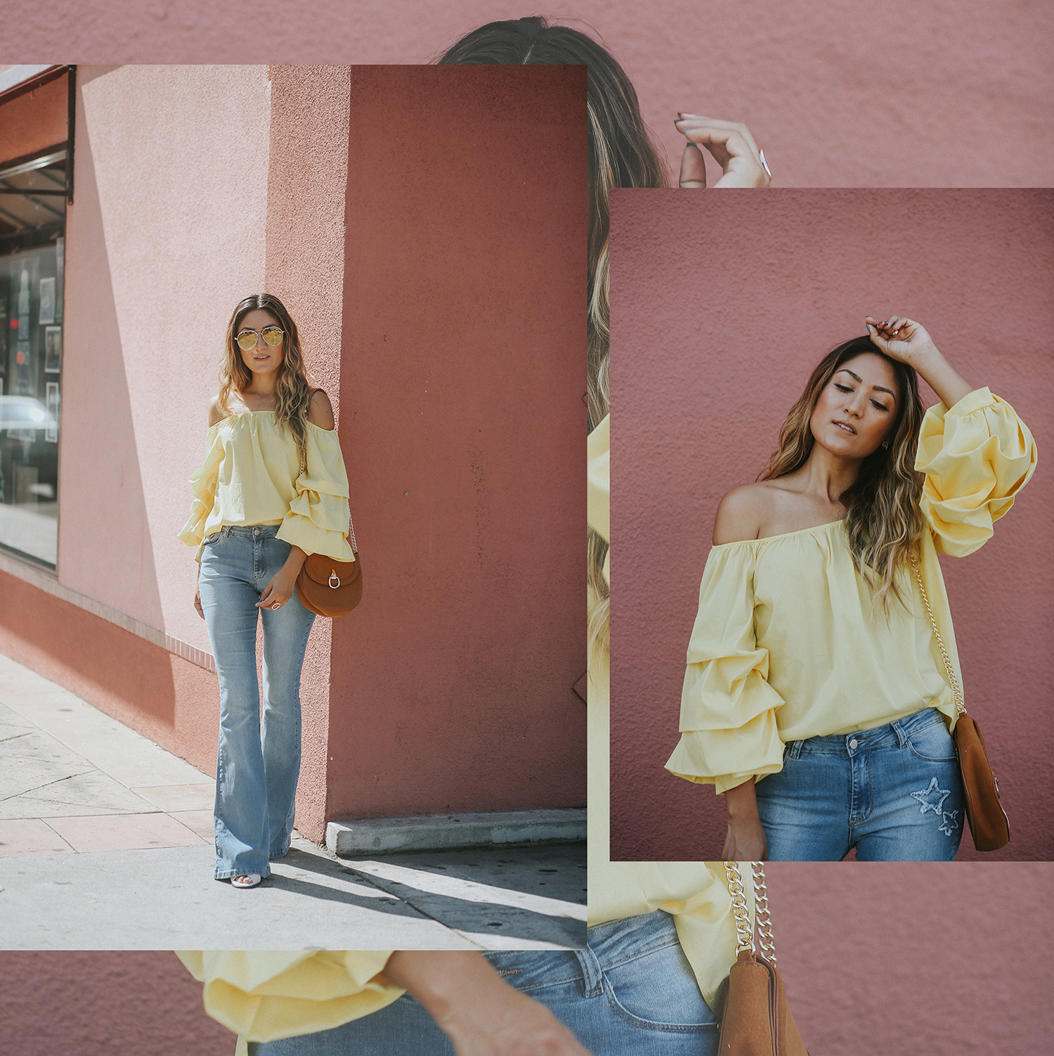 A September Summer, Yellow, September, Summer, Sunglasses, ootd, melrodstyle, la blogger, street style, blogger, blogger style, fashion,
