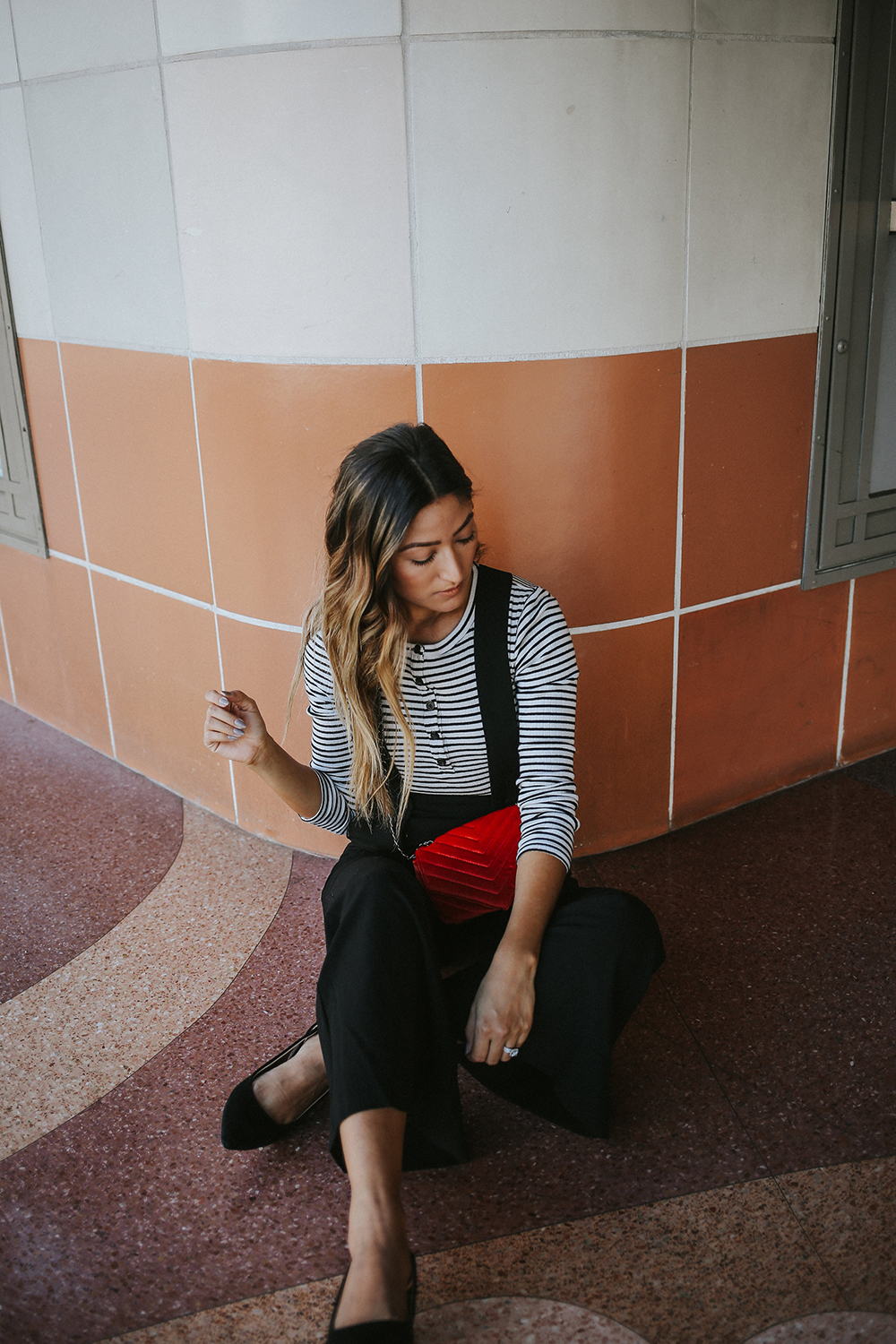 Fame and Partners Parisian Vibes, fame and partners jumpsuit, fame and partners, jumpsuit, red, ootd, style, melrodstyle, street style, culver city, whittier blogger, la blogger, latina blogger, mexican blogger, hispanic blogger, fall style, parisian vibes