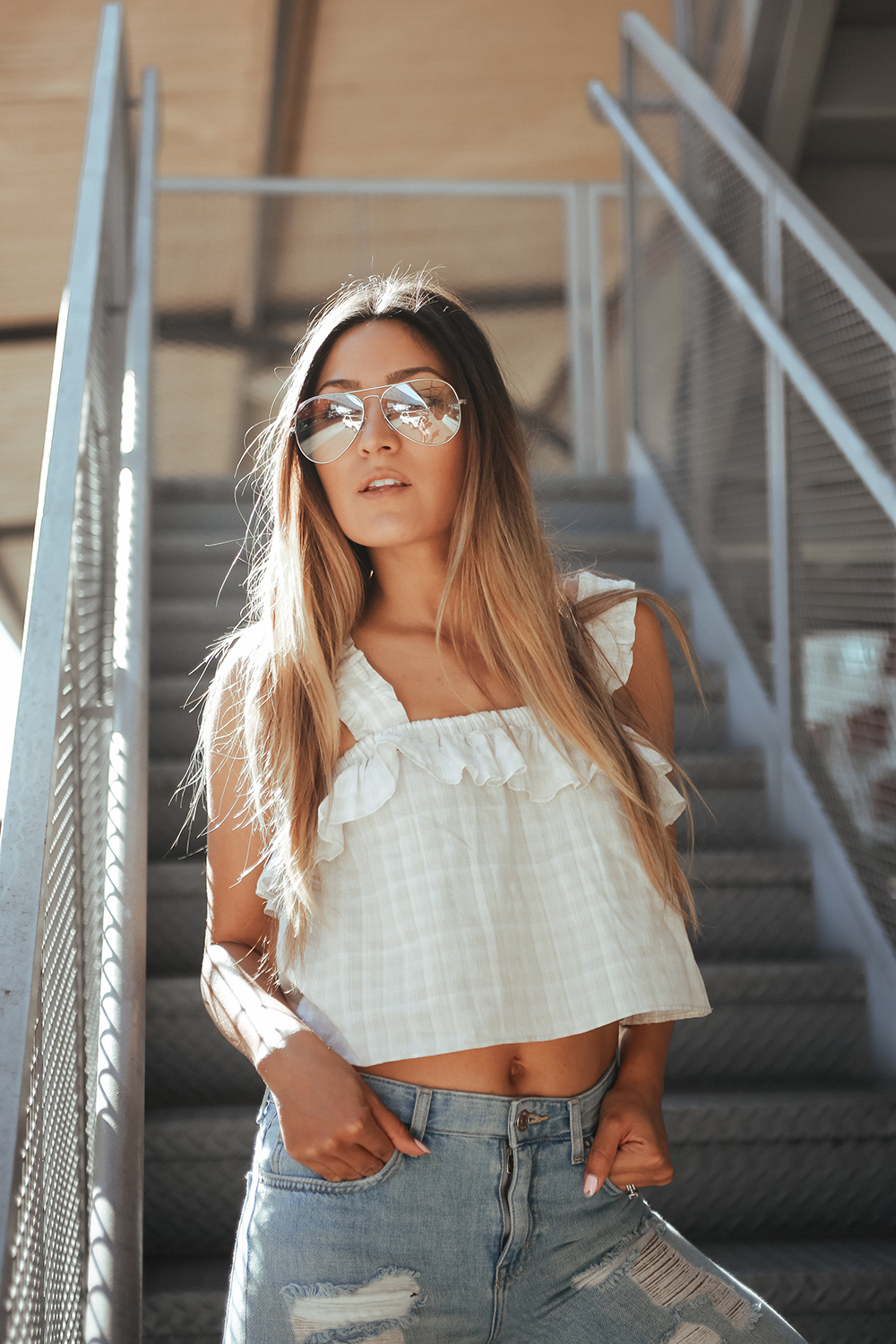 California Winter, Sincerely Jules, Sincerely Jules Emma Top, UK Glamorous, glamorous, forever 21 boyfriend jeans, gold loafers, zero uv clear glasses, ootd, lifestyle blogger, la blogger, mommy blogger, street style